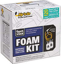 Touch 'n Seal | 3 0 PCF Kit for Repairing Spray Foam Roofs